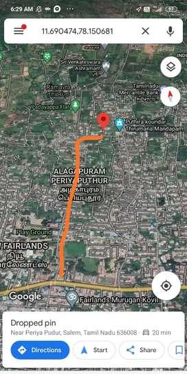 சேலம் சாரதா காலேஜ் பின்புறம் மனை வடகிழக்கு