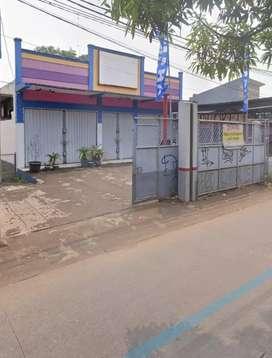 Bangunan ex bengkel di pinggir jln raya kp.sawah pabuaran pondok gede