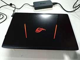 Laptop Gaming ASUS ROG STRIX GL553VD Notebook ( kondisi 100% mulus )