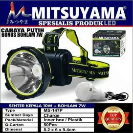 Senter Kepala Headlamp Head Lamp 20 Watt Camping Kemping ANTI AIR