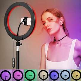 RGB LED Ring Light 15 Multiple Colours with 7 ft height tripod Stand