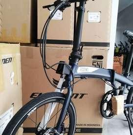 Sepeda Lipat Element Ecosmo 9 2019 Hydraulic Baru