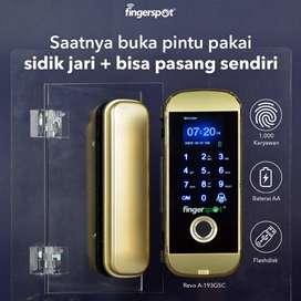 Fingerspot Revo A-193GSC Smart Digital Lock Pintu Kaca