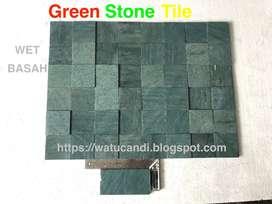 Ubin Batu Hijau Untuk Kolam Renang Zeolit Premium Grade Batu Alam Asli
