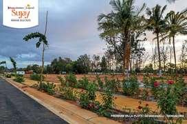 Premium gated community villa plots Devanahalli