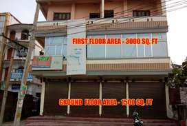 Fully furnished Ground Floor - 1500 Sq. Ft. and First Floor - 3000 Sq.