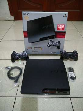 Ps3 Slim 500gb Langsung bungkus Kalo Minat,Full 50game 2 Stik fullset