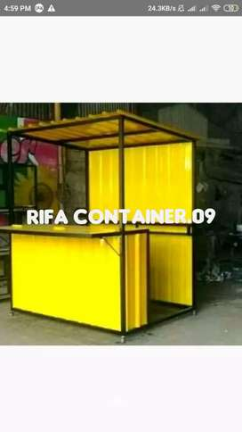 CONTAINER USAHA, CONTAINER BOOTH, CONTAINER COFFEE SHOP, BOOTH LIPAT