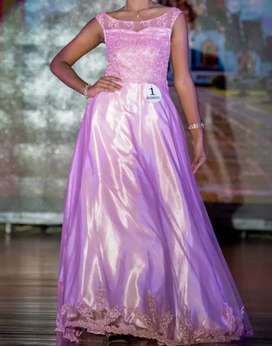 Pageant boat neck Gown
