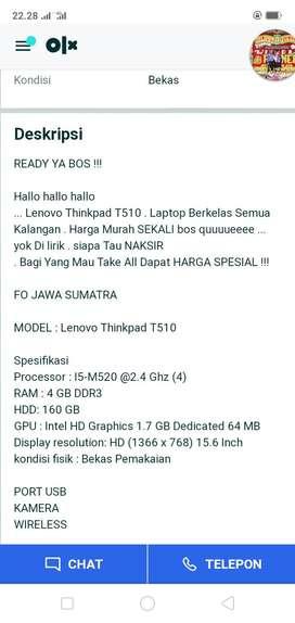 Mencari/laptop thinkpad T.