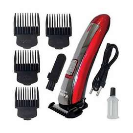 New Kemei km-7055 Electric Rechargeable Hair Trimmer with 4 Clippers