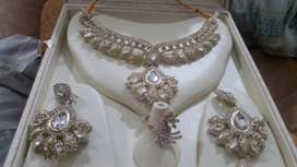 Jewellery Necklace set with ring, Kundan