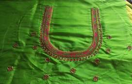 Aari work and designer blouse work. Price starts from Rs.800