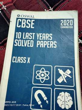 Oswal 10 last year solved paper class 10