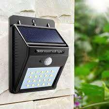 Lampu Taman Tembok Sensor Outdoor 20 LED