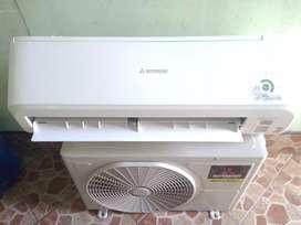 AC Mitsubishi 1 PK R410 masih mulus dan putih