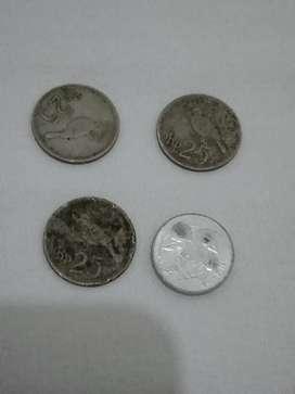 Uang koin jadul Rp.25 ( 4bh )