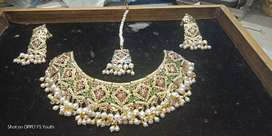 Jadaau Silver Plated Set With Gold Polish