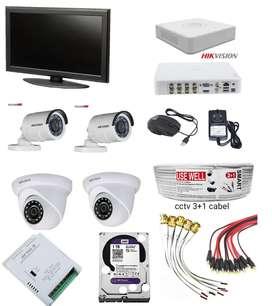 HiKVISION _CCTV Camera-4 _DVR-4Chenal_ LED TV _full setap