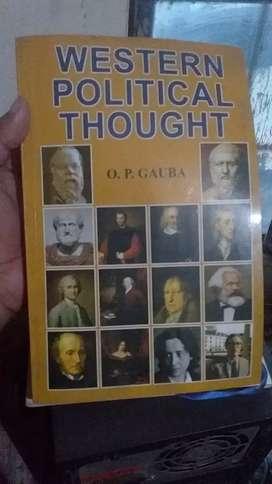 Western Political thoughts OP GAUBA BA in english