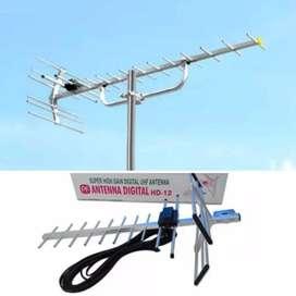 Ahli instalasi pasang antena tv chaenal lokal digital