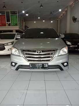 Toyota innova G diesel disel 2014 silver manual kredit harga termurah