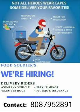 Hiring for Delivery Boy on hourly work basis