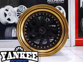 Velg Mobil HSR Wheel Model DOBO Ring 16 PCD 4X100-114,3 Black Bronze