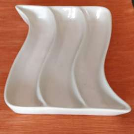 White plate with section