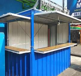 Booth container booth jualan booth makanan counter booth ayam crispy