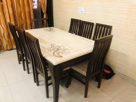 8 Seater Italian Marble Dining Set