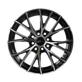 jual velg type HSR Naples 12283 R15X65 H8X100-1143 ET38 Black Polish 2