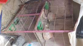 3 portion iran cage for sale good condition