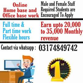 Online Home base and office base Job