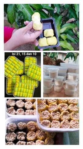 Pancake durian dan dimsum