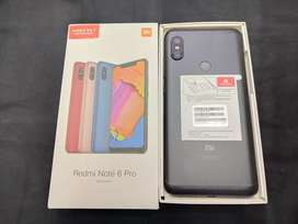 Brand new Redmi Note 6 pro 4gb ram 64gb Black with full kit