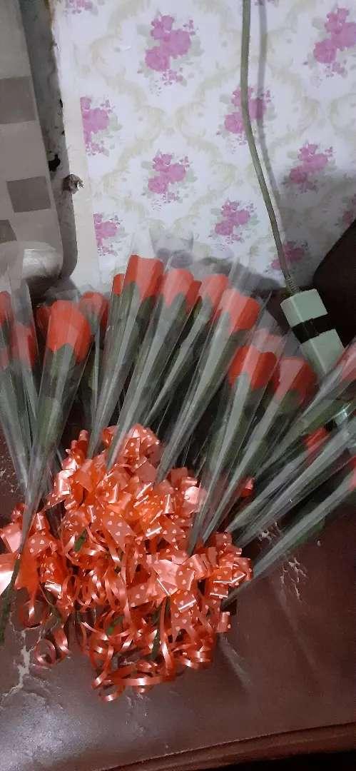 Satu tangkai bunga flanel 0