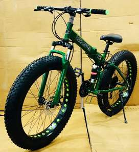 Fat Tyre Foldable Cycle With 21 Speed Shimano Gears