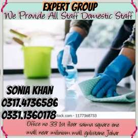 Expert Group Provided Fully Verified Domestic Staff