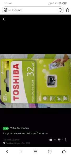 Toshiba 32 gb class 10 pack