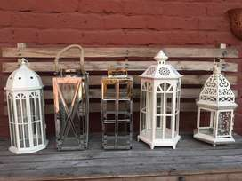 Vintage candle lantern out door in door decor