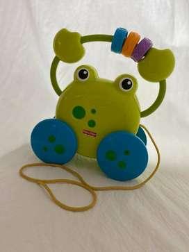 Mainan Anak Murah - Tarik-tarikan - Pull Along Froggie Fisher Price