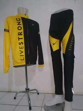 Jersey Set Sepeda Roadbike lengan panjang