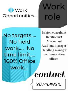 Brand consultant, Communication officer asst manager and manager