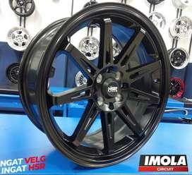 Pelg mobil racing Baleno r17 baut 4x100 dan 4x114,3 Black Gresik
