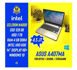 Laptop Asus A407MA - Intel N4000 4GB 1TB + SSD 128GB