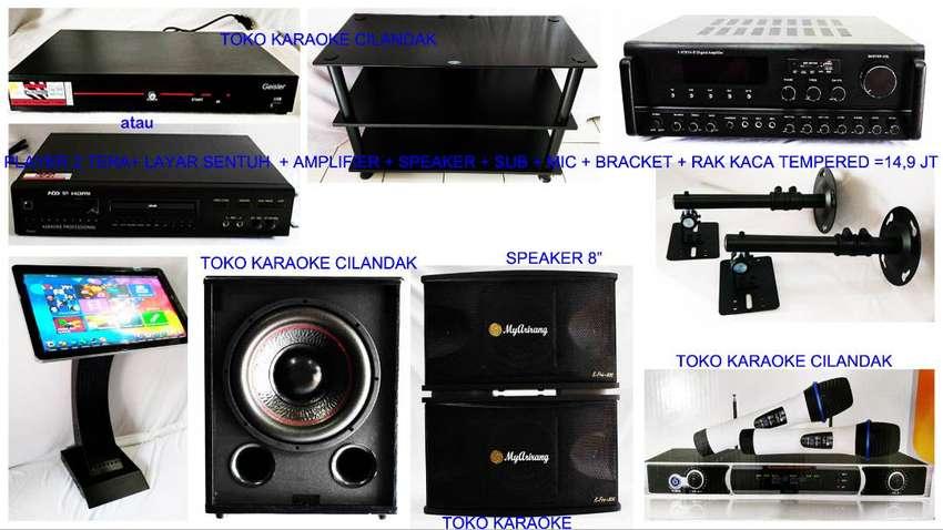 new paket karaoke +bracket+rak 14,9 juta 0