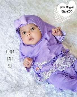 baju muslim bayi perempuan - ainda baby set