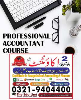 Professional Accountant Course Just in 2 Months