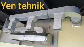 Hood kitchen ducting